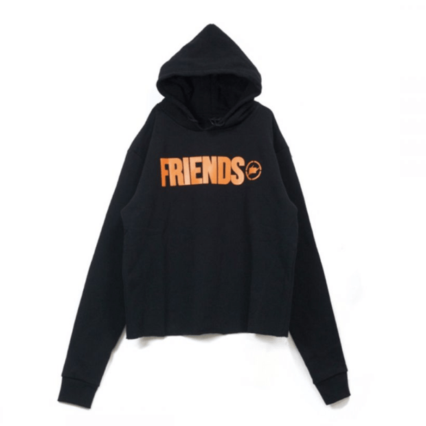 VLONE X FRAGMENT FRIENDS LOGO BLACK HOODIE (NEW) SMALL