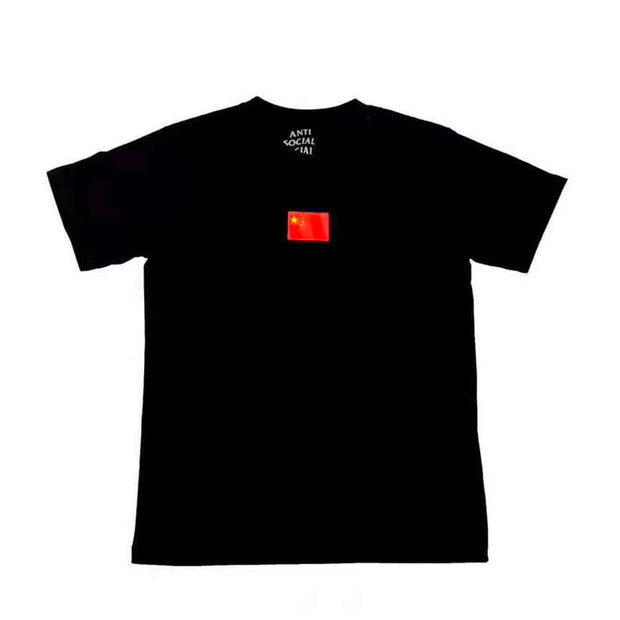 ASSC CHINA FLAG BLACK TEE (NEW) LARGE