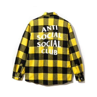 ASSC YELLOW BLACK CHECKER FLANNEL (NEW) MEDIUM