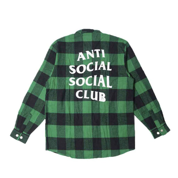 ASSC GREEN BLACK CHECKER FLANNEL (NEW) SMALL