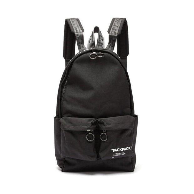 OFF WHITE QUOTE INDUSTRIAL BLACK BACKPACK (NEW)