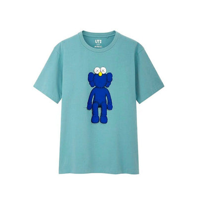 KAWS X UNIQLO BLUE BFF TEAL TEE LARGE (NEW)