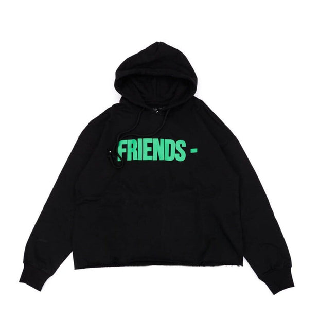 VLONE FRIENDS GREEN LOGO BLACK HOODIE (NEW) MEDIUM