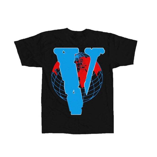JUICE WRLD X VLONE 999 GLOBE TEE BLACK TEE (NEW) LARGE