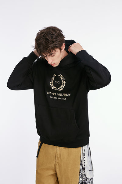 SSS LAURELS CHARITY HOODIE BLACK (NEW)