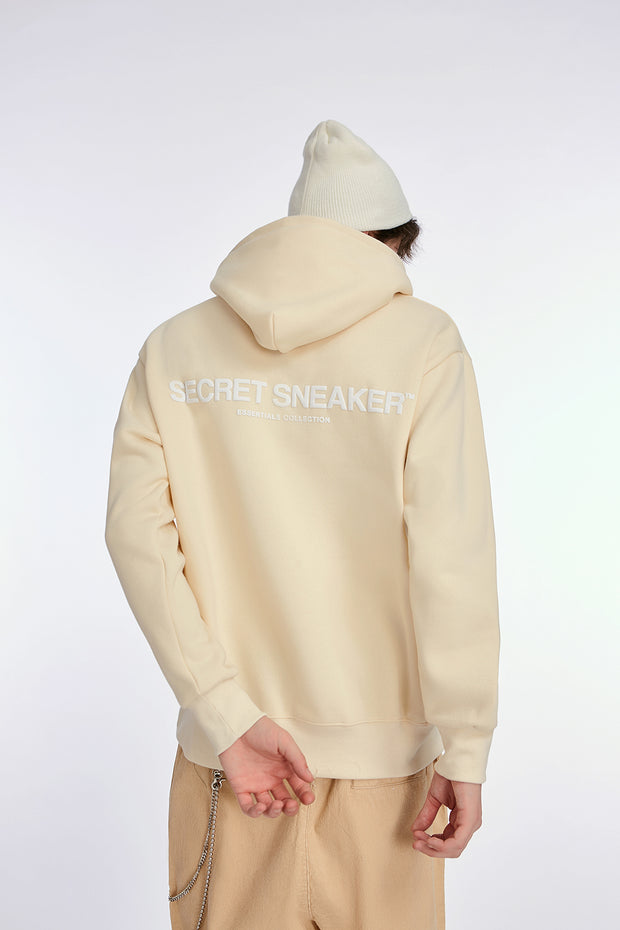SSS ESSENTIALS COLLECTION LOGO CREAM HOODIE (NEW) XLARGE