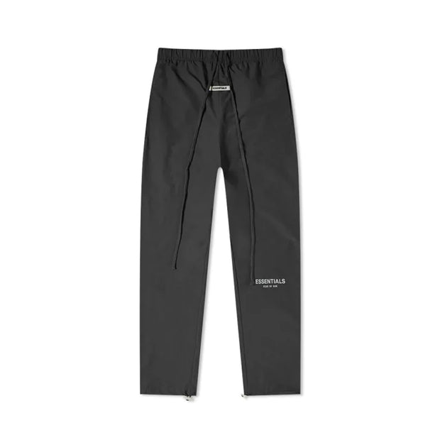 FOG ESSENTIALS REFLECTIVE LOGO NYLON BLACK TRACK PANTS (NEW)