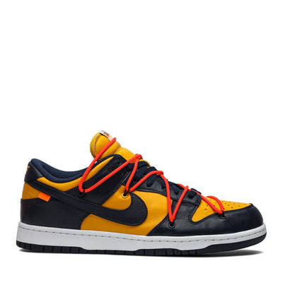 NIKE X OFF WHITE DUNK LOW MICHIGAN NAVY (NEW)