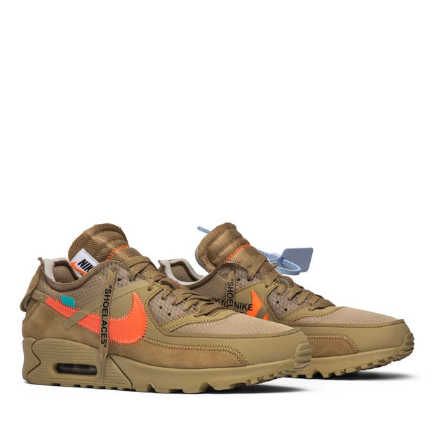 NIKE X OFF WHITE AIR MAX 90 DESERT ORE (NEW)