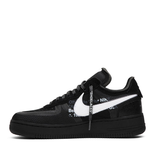 NIKE X OFFWHITE AIR FORCE ONE 2.0 BLACK LOW (NEW)