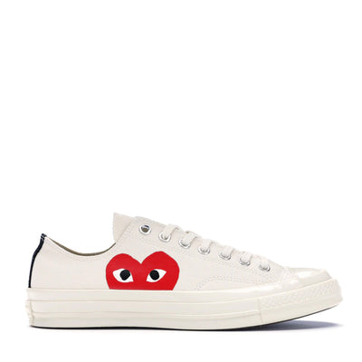 CONVERSE X CDG WHITE LOW TOP (NEW)