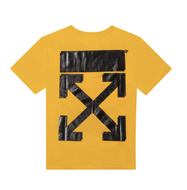 OFF WHITE X CHAMPION YELLOW TEE (NEW) XXSMALL