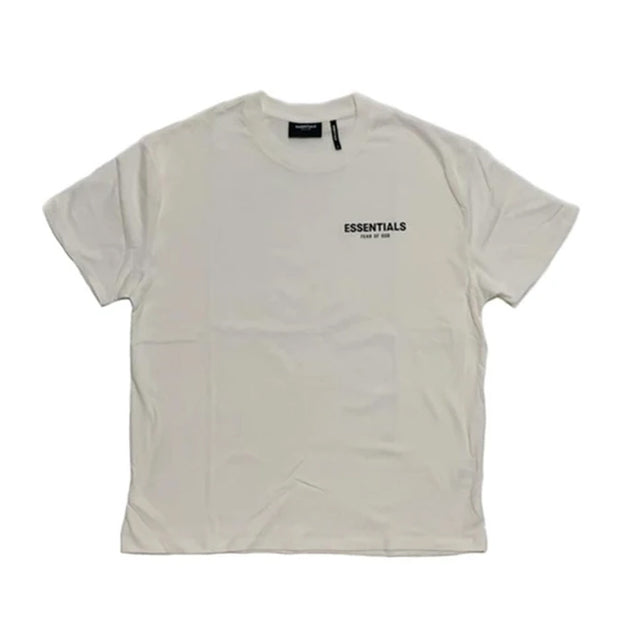 FEAR OF GOD FOG ESSENTIALS FRONT LOGO TEE WHITE (NEW)