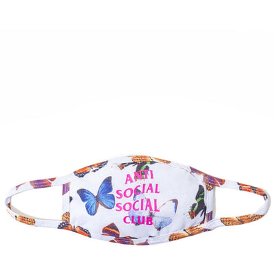 ASSC ASHTON BUTTERFLY WHITE FACE MASK (NEW) ONE SIZE