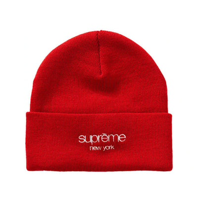 SUPREME FW19 RADAR CLASSIC LOGO BEANIE RED (NEW) -