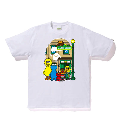 BAPE X SESAME STREET FRIENDS BIG APE WHITE TEE (NEW) -