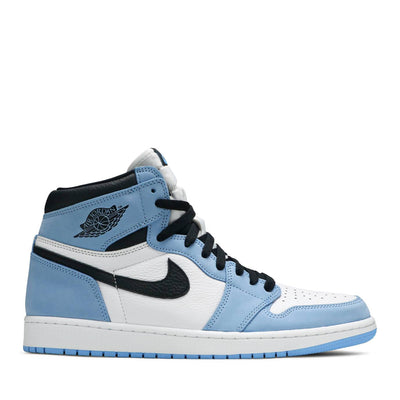 NIKE AIR JORDAN1 HIGH WHITE UNIVERSITY BLUE (NEW)