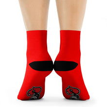 "Load image into Gallery viewer, ""Drippy Red"" Crew Socks"