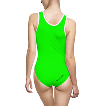 "Load image into Gallery viewer, ""Drippy Fish"" Rave Women's Classic One-Piece Swimsuit"