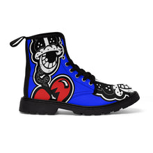 "Load image into Gallery viewer, ""Drippy Blue's"" Men's Martin Boots"