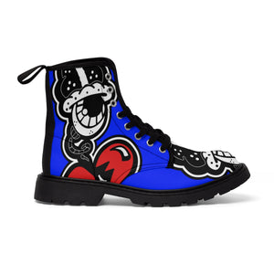 """Drippy Blue's"" Men's Martin Boots"