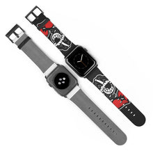 "Load image into Gallery viewer, ""Drippy Fish Blk"" Watch Strap"