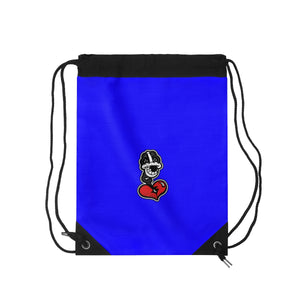 """Drippy Blue"" Drawstring Bag"