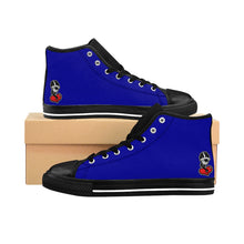 "Load image into Gallery viewer, ""Deep Blue C's"" Men's High-top Sneakers"