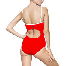 "Load image into Gallery viewer, ""Drippy Red"" Women's One-piece Swimsuit"