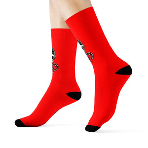 """Drippy Red"" Crew Socks"
