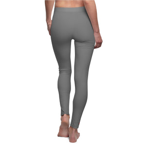 """Drip Sum"" (grey) Women's Cut & Sew Casual Leggings"