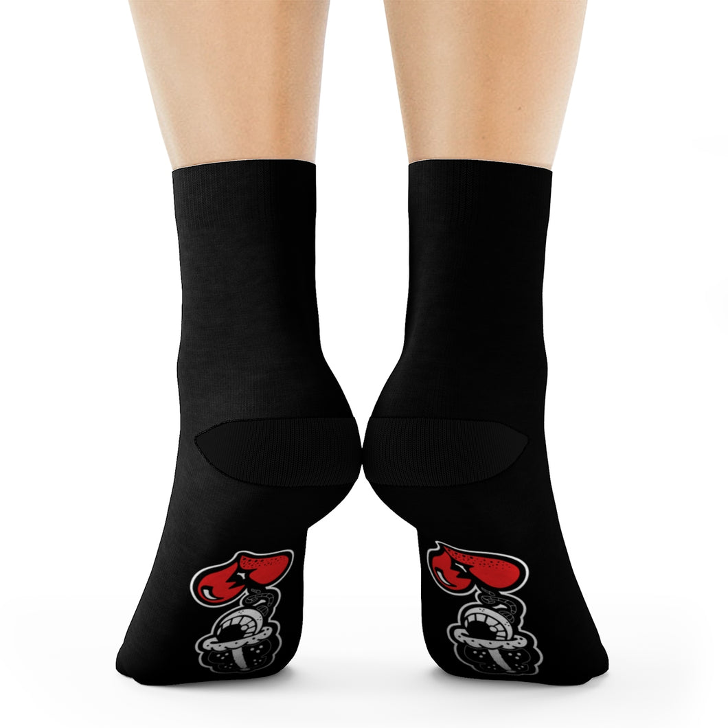 """DRIPPY BLACK"" Crew Socks"