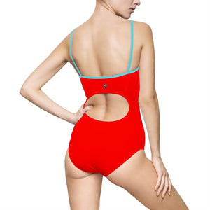 """Drippy Red"" Women's One-piece Swimsuit"