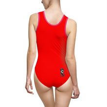 "Load image into Gallery viewer, ""Drippy Red"" Women's Classic One-Piece Swimsuit"