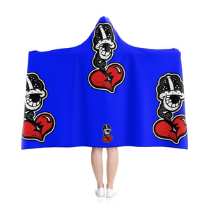 """Big Blue Drip"" Hooded Blanket"