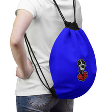 "Load image into Gallery viewer, ""Drippy Blue"" Drawstring Bag"