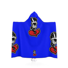 "Load image into Gallery viewer, ""Big Blue Drip"" Hooded Blanket"