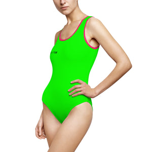 """Drippy Fish"" Rave Women's Classic One-Piece Swimsuit"