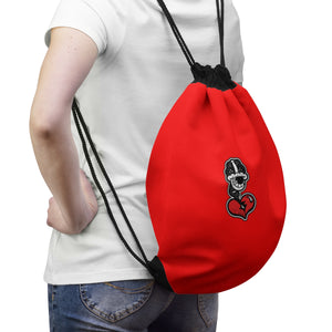 """Drippy Red"" Drawstring Bag"