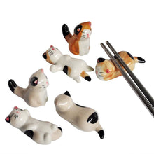 Load image into Gallery viewer, 3 Chopstick Holders Cats - Chopstick Holders