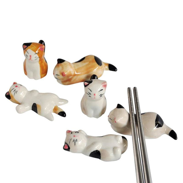 3 Chopstick Holders Cats - Chopstick Holders