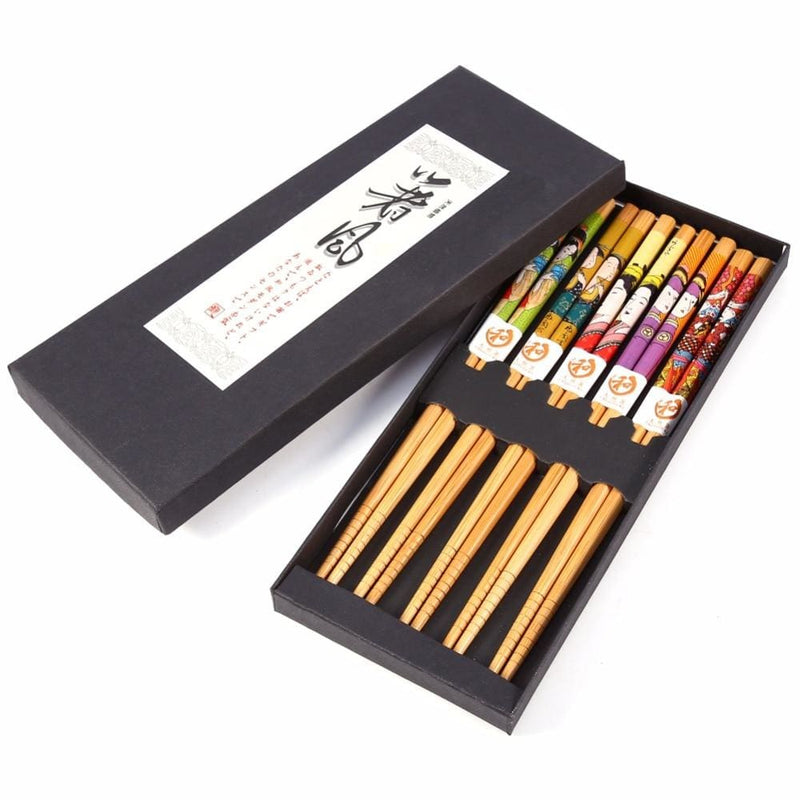5 Wooden Chopsticks Saitama - Chopsticks