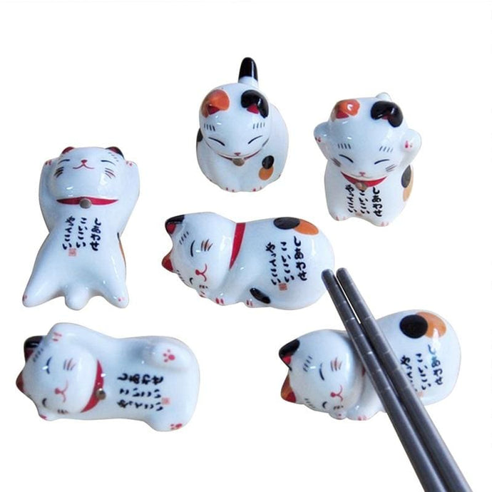 Chopsticks Holder Maneki Neko - Chopstick Holders