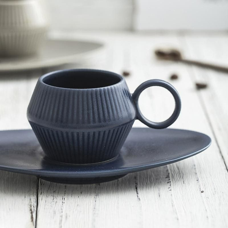 Coffee Cup Set Takahiro - Deep Blue - Coffee Cups
