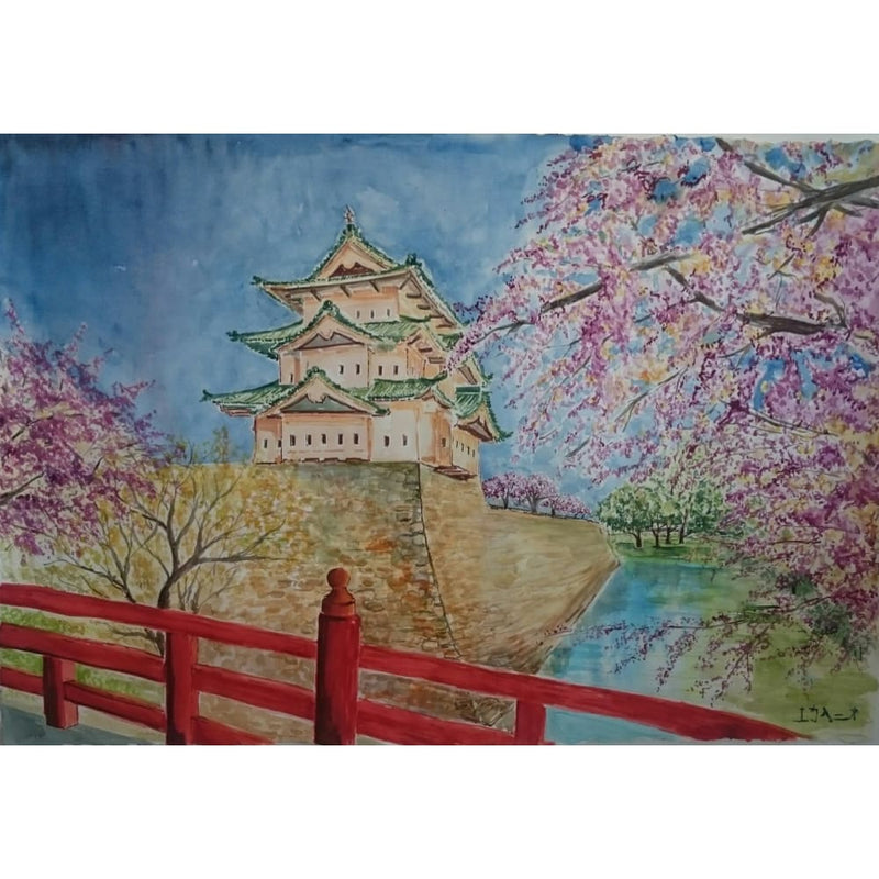 Exclusive Picture Hiroshaki Castle - Canvas Picture
