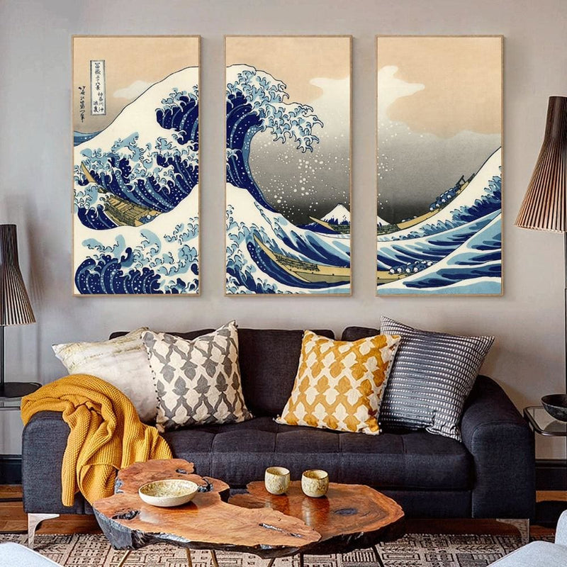 Japanese Print The Wave - Canvas Picture