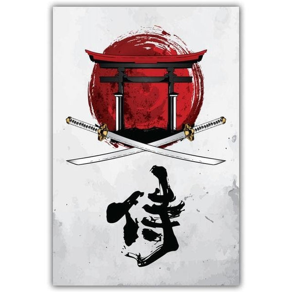 Nipon Picture Awabi - 20x27cm (7 9x10 6) / 17 - Canvas Picture