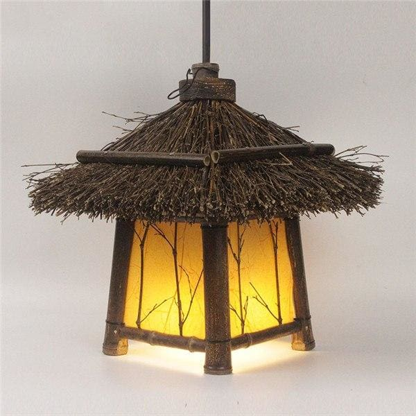 Pendant Ceiling Lamp Nanami - Yellow lampshade - Lamps