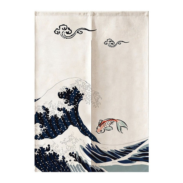 Noren Curtain Haruka ( 3 sizes)