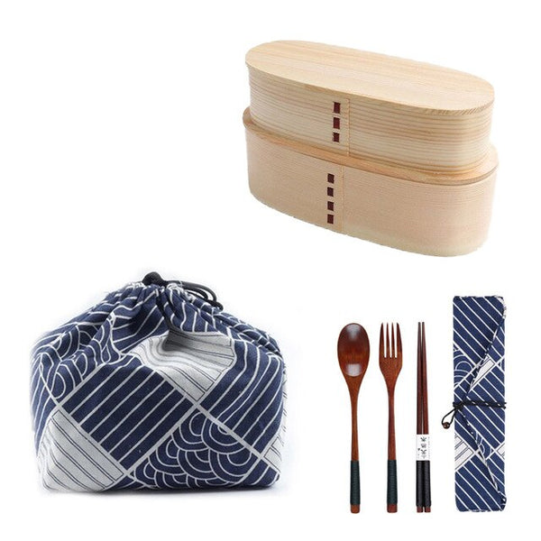 2 Bentos and Cutlery Set Uru